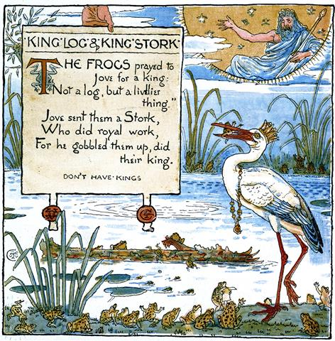 The Frogs Pick A King Fables Of Aesop