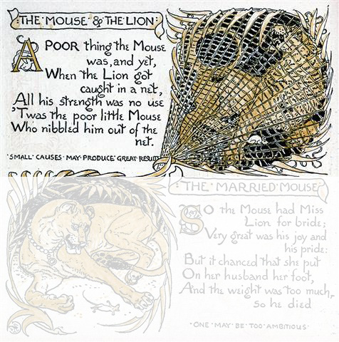 image about The Lion and the Mouse Story Printable named The Lion and The Mouse - Fables of Aesop