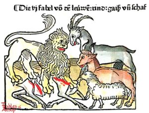 078-339-Book-1-Fable-6-Of-the-Lion-the-Cow-the-Goat-and-the-Sheep