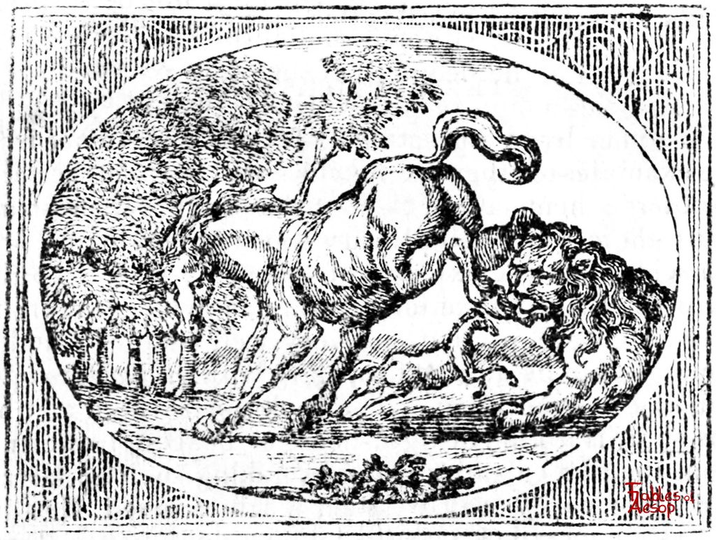 The Old Lion - Fables of Aesop