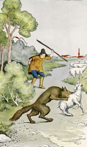 The Boy Who Cried Wolf Fables of Aesop : i015thboycriedwolf from fablesofaesop.com size 350 x 588 jpeg 232kB
