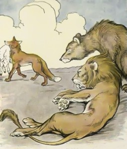 Lion, Bear, and Fox