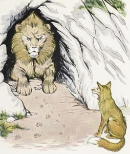 Lion and Fox