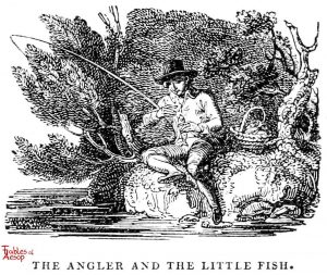 Whittingham - Angler and Little Fish