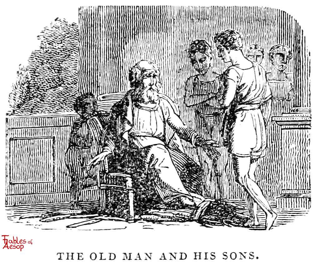 The Father, His Sons, and The Bundle of Sticks - Fables of Aesop