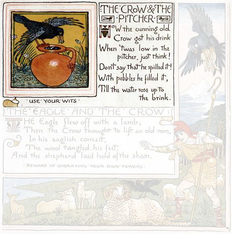 The Crow and The Pitcher - Fables of Aesop