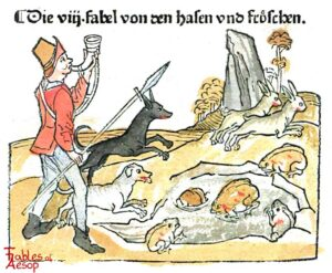 101-138-Book-2-Fable-8-Of-the-Hares-and-the-Frogs