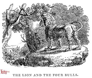 Whittingham - Lion and Four Bulls