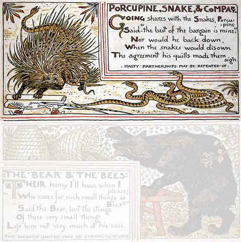 Porcupine and Snake