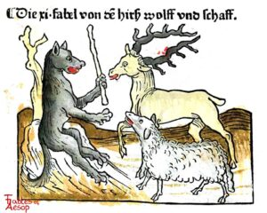 104-478-Book-2-Fable-11-Of-the-Deer-the-Sheep-and-the-Wolf