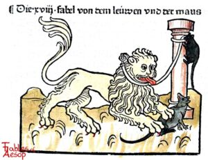 089-150-Book-1-Fable-18-Of-the-Lion-and-the-Mouse