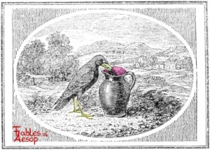 Bewick-0097-Crow-and-Pitcher