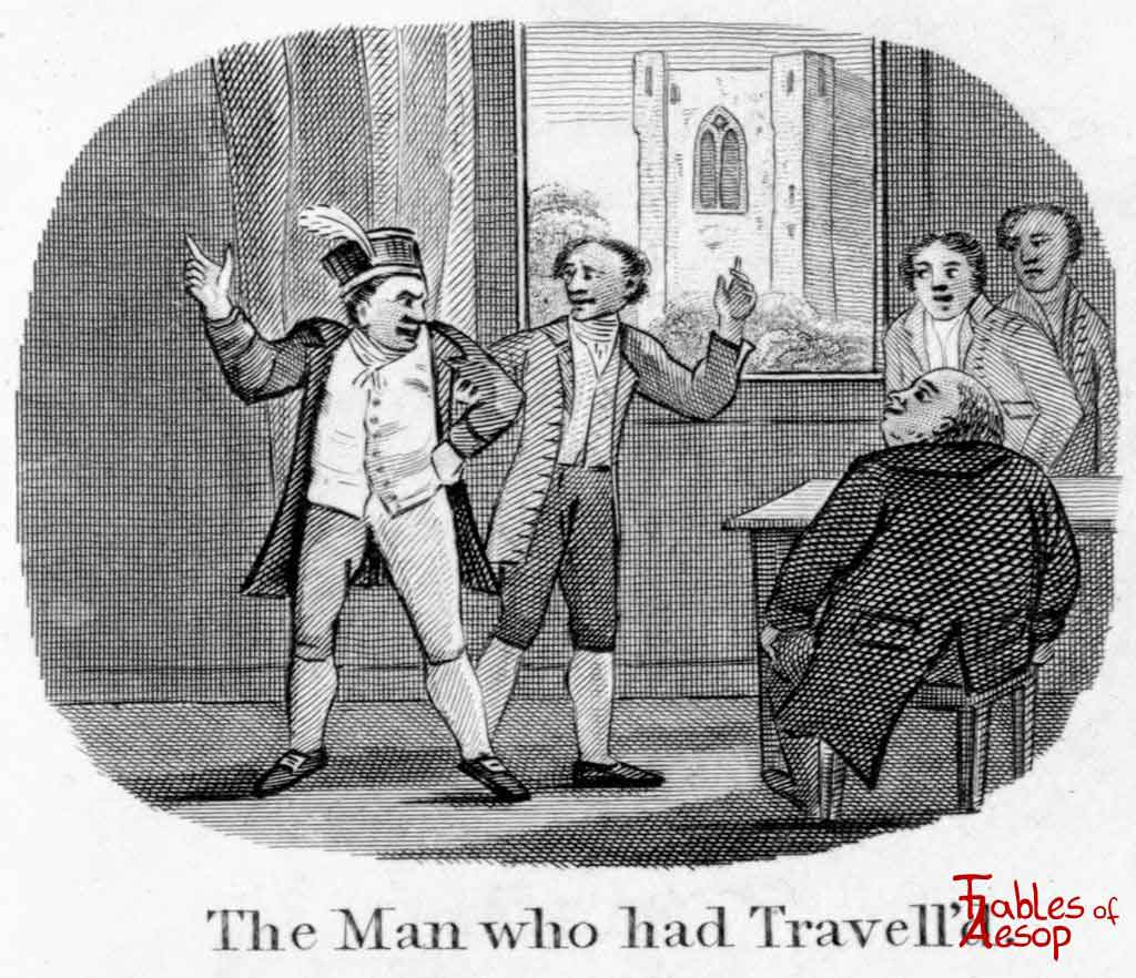 The Boasting Traveler From Aesop S Fables