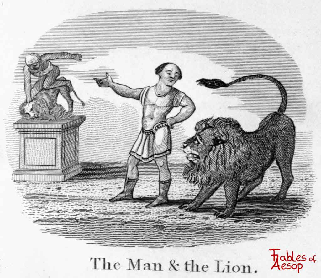 The Lion and The Statue - Fables of Aesop best story writers