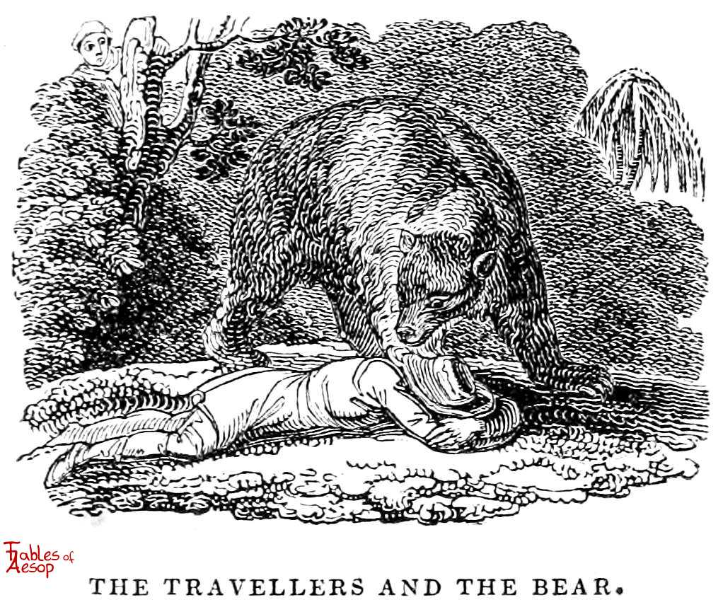 The Bear and The Two Travelers - Fables of Aesop