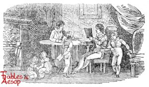 Bewick-0116-Aesop-and-Impertinent-Fellow-Bottom